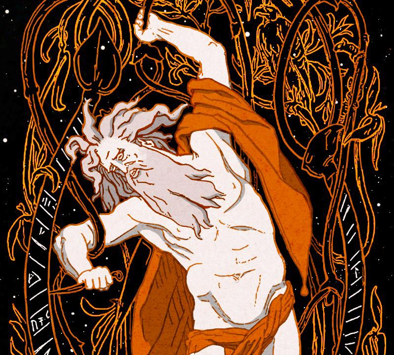 Odin Hanging on the World Tree by Emile Doepler & Arthur Koopmans