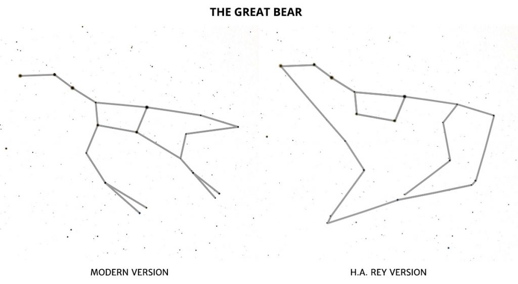 The Great Bear modern version and H.A. Rey version