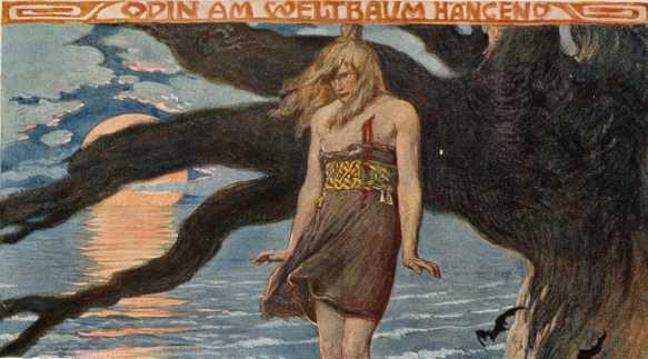 Odin hanging on the World Tree by Emile Doepler (1905)
