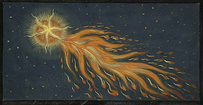A hairy comet from the Book of Miracles