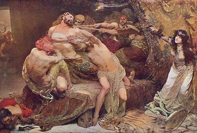 Samson and Delilah by Solomon Joseph (1887)