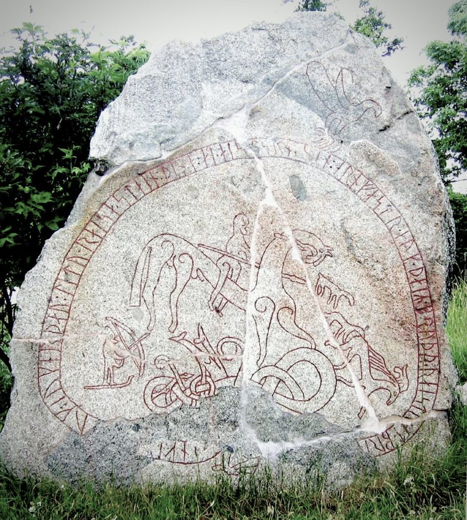 The Böksta Runestone hunting scene