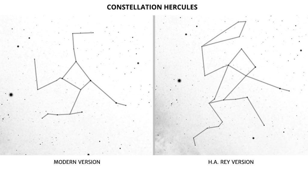 The constellation Hercules (H.A. Rey)