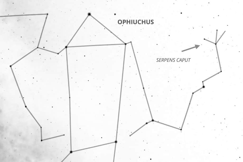Ophiuchus holding Serpens Caput (H.A. Rey)
