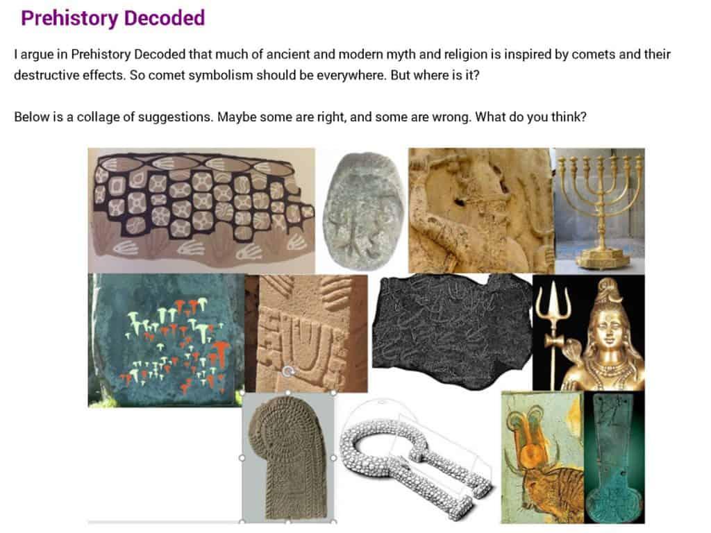 Martin Sweatman, Prehistory Decoded, comet symbolism