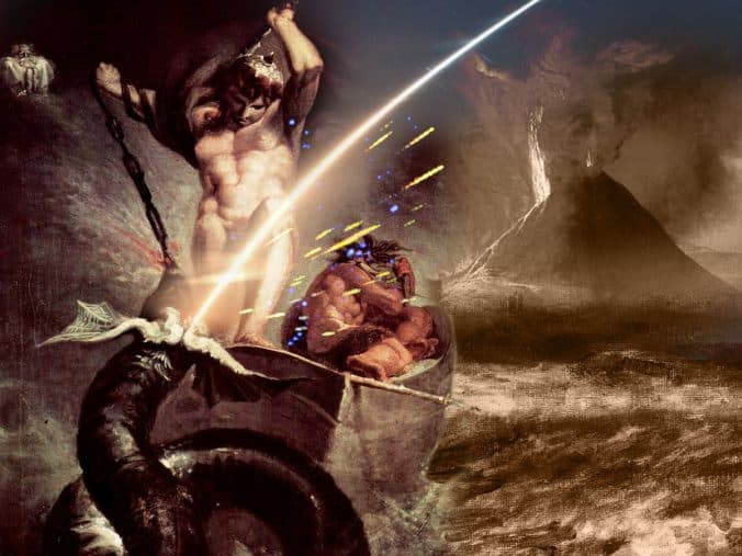 Thor and the Midgard Serpent - meteorite impact