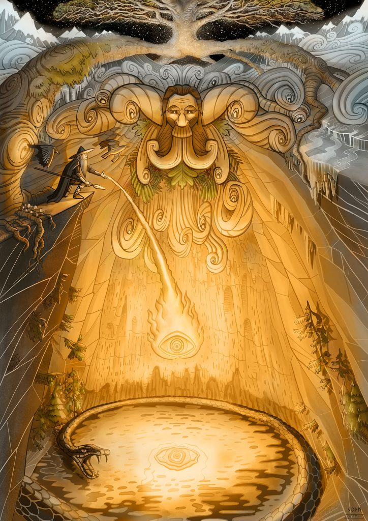 Odin at the Well of Mimir by Secrets of the Norse