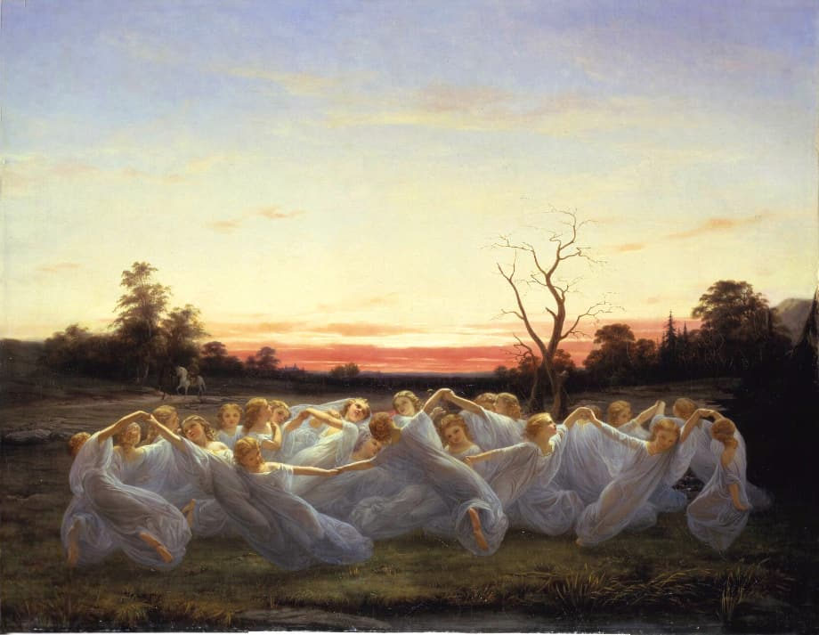 Meadow Elves by Nils Blommér (1850)
